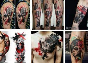 Trash Polka Tattoo Design & Trash Polka Tattoo Artist *2020