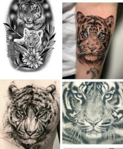 White Tiger Tattoo & Japanese Tiger Tattoo Designs