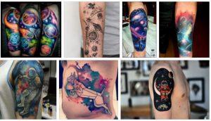Negative Space Tattoo & Space Sleeve Tattoo Designs