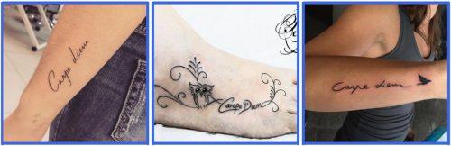 Carpe Diem Tattoo & Carpe Diem Tattoo Wrist *2020 Best