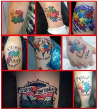 Autism Tattoo & Autism Butterfly Tattoo *2021 New